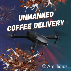 Unmanned delivery of coffee. IBM Drones