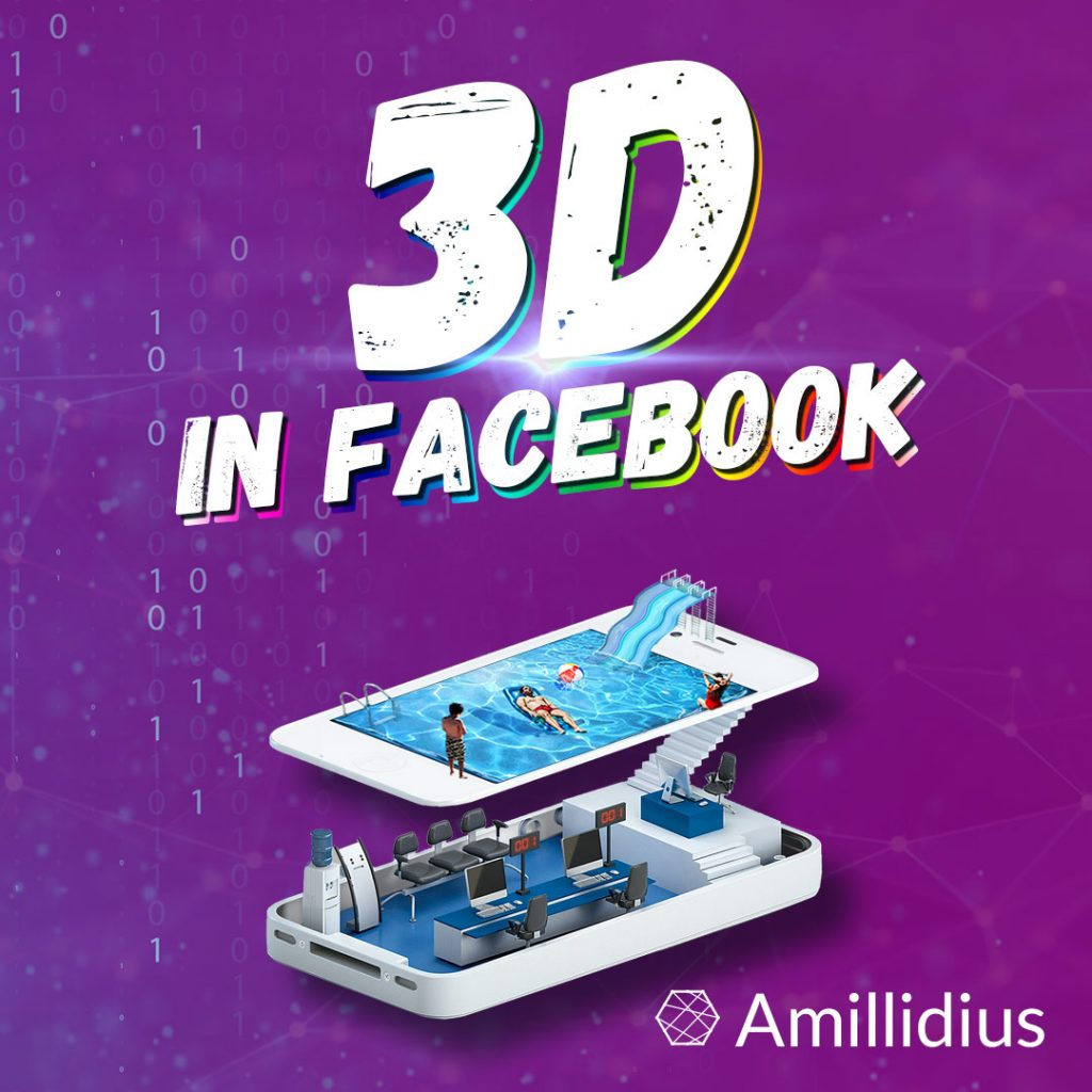 3D in facebook, news, update