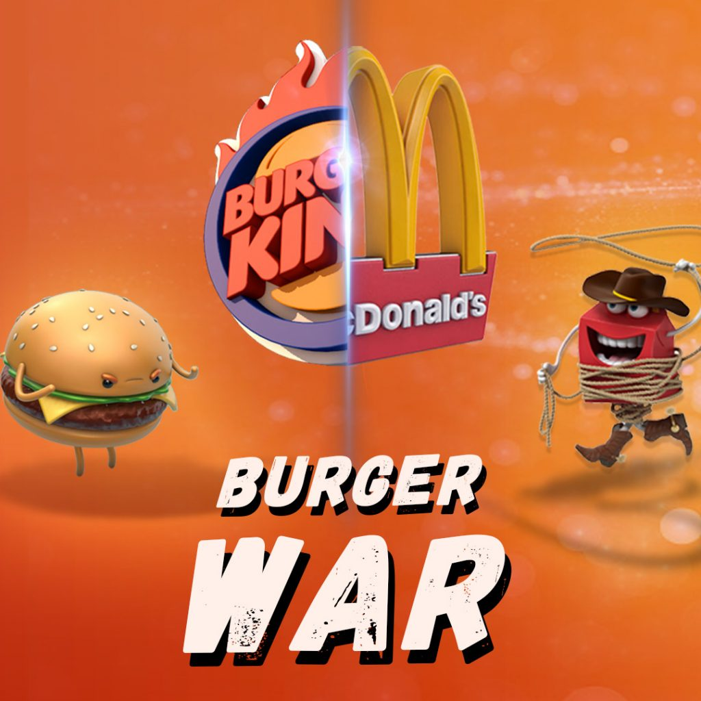 "BurgerKing's PR strategy in the ""burger war"" with McDonalds"