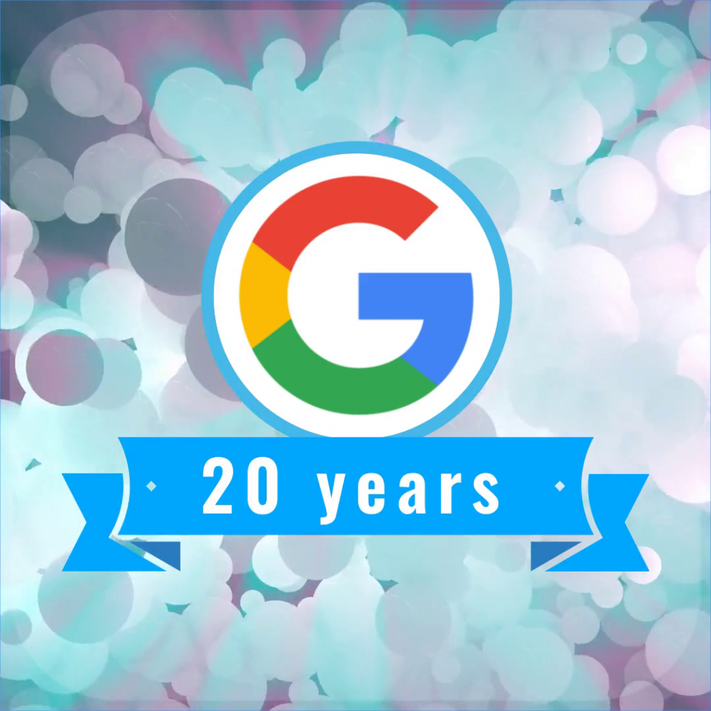 Google, update, 20 years