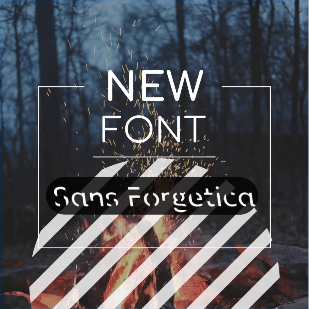 Sans Forgetica, new font