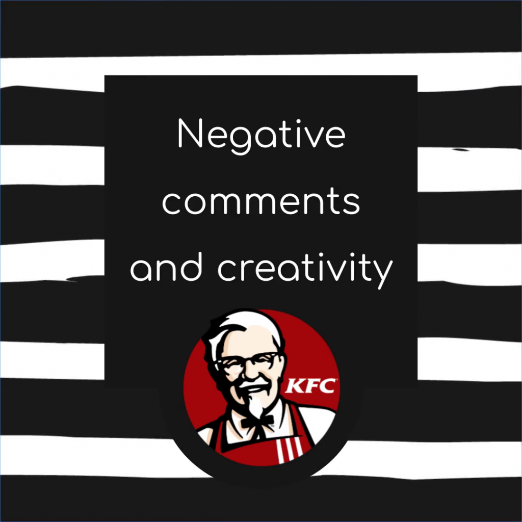 KFC and negative comments