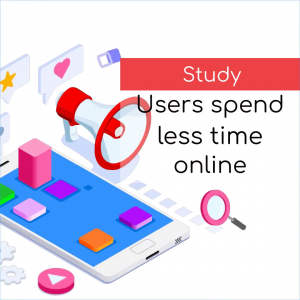 Users began to spend less time online
